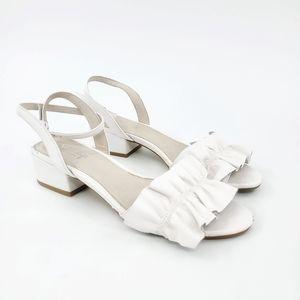 Shellys London | Deianira White Leather Sandal 8